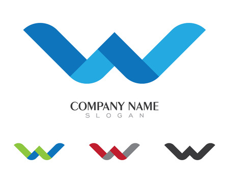 W Letter Logo Business professional logo template 向量圖像
