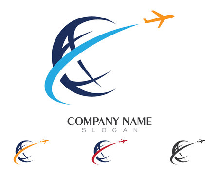 Global logo template vector icon
