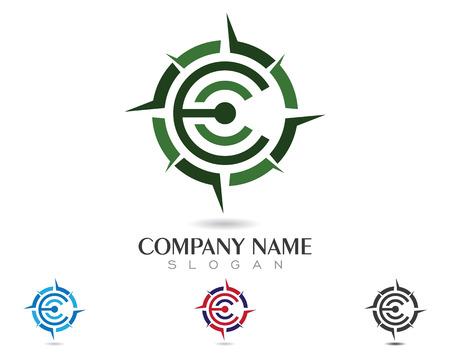 land mark: Compass Logo Template vector icon