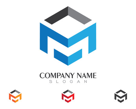 M Letter Property Logo Template