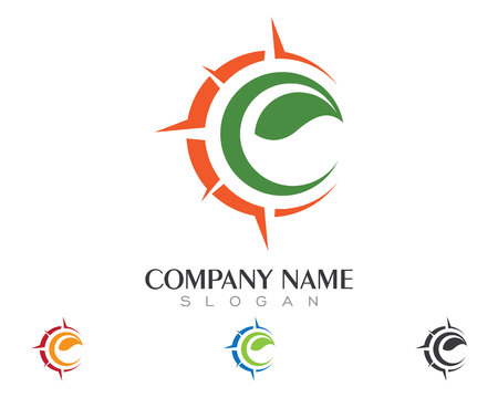 east river: Compass Logo Template vector icon