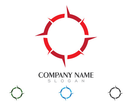 latitude: Compass Logo Template vector icon