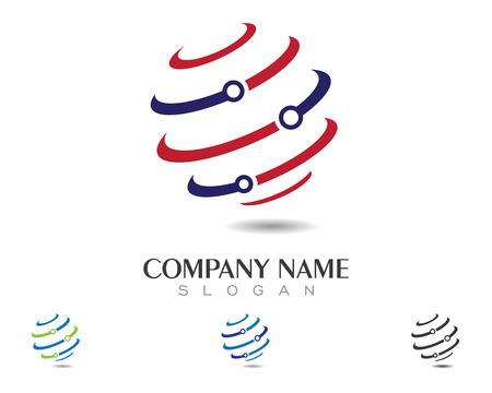 global logo: Global logo template vector icon