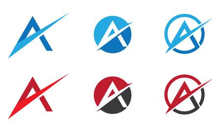 文字ロゴのテンプレート  イラスト・ベクター素材