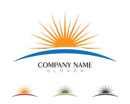 Vector Icon Logo Template Sun over horizon