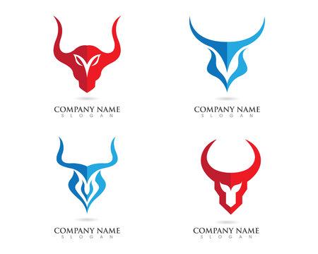 Red Bull Taurus Logo Template illustratie vector icon