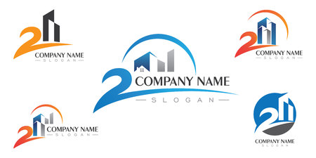 Property Logo Template Real Estate , Property and Construction Logo design for business corporate sign . Vector Logo Illustration