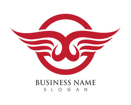 soar: Falcon Eagle Bird Logo Template vector icon