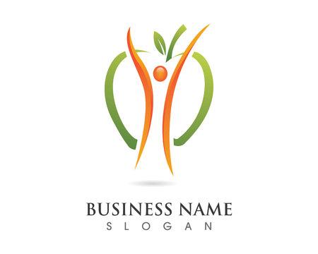 body slim: Fun people Healthy Life Logo template vector icon
