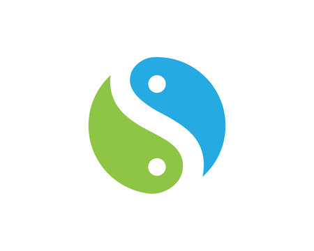 water s: S letter logo, volume icon design template element