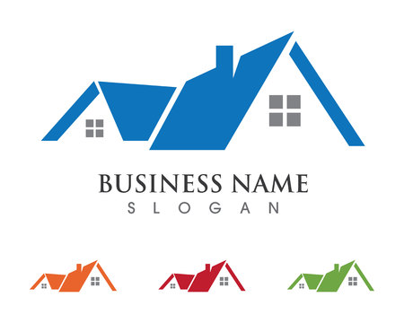 Real Estate , Property and Construction Logo design for business corporate sign . Vector Logo . Illustration
