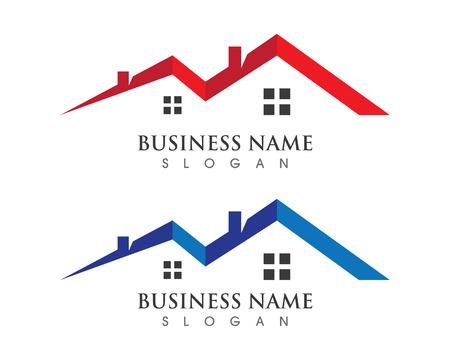 Eigenschap Logo Template Onroerend goed, onroerend goed en constructie Logo ontwerp voor zakelijke corporate teken. Vector logo Stock Illustratie