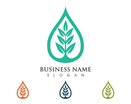 Tree leaf vector logo design, eco-friendly concept. Çizim