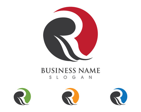 R Letter Logo Business professional logo template 向量圖像