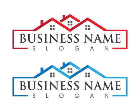Real Estate , Property and Construction Logo design for business corporate sign . Vector Logo . Vettoriali