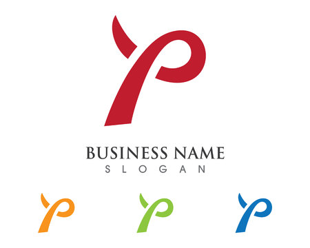 P Letter Logo Business professional logo template