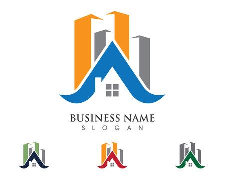 Vastgoed en constructie Logo ontwerp voor