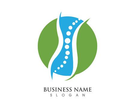 Symbole de diagnostic de la colonne vertébrale logo template vector illustration design