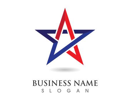 星のロゴのテンプレート ベクトル アイコン イラスト デザイン