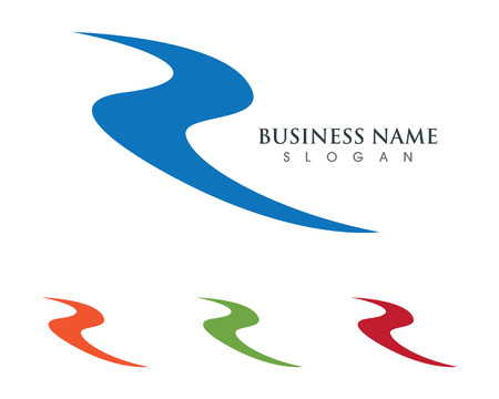 R Letter Logo Business professional logo template Stock fotó - 72755016