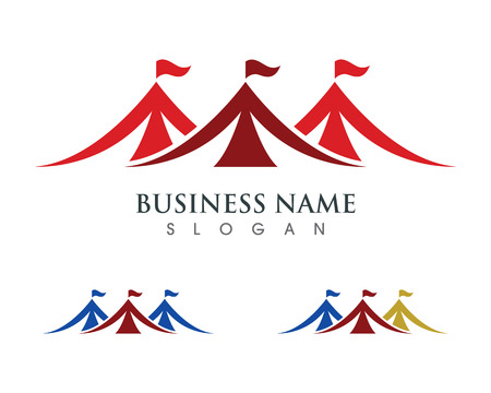 Circus tent logo template. Vector illustration.v Stock Illustratie