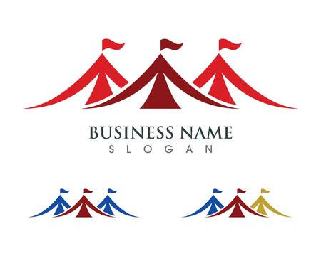 Circus tent logo template. Vector illustration.v Vettoriali
