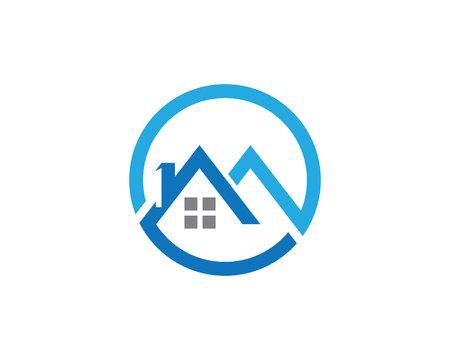p buildings: Property Logo Template Illustration