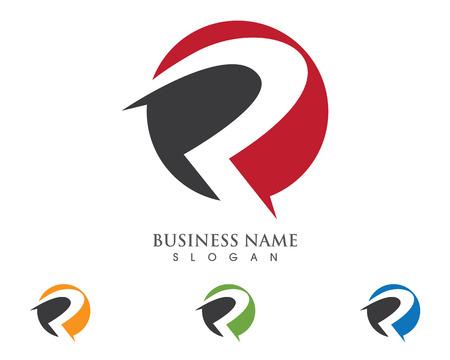 R Letter Logo Business professional logo template Illusztráció