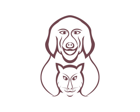 Vector Illustration Pet Shop Icon.