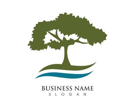Eco Tree Leaf Logo Template Stock Illustratie