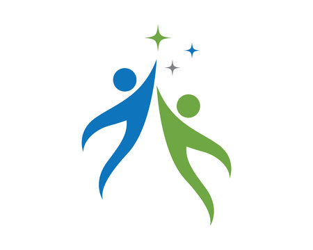 Les soins communautaires Logo Banque d'images - 72403386
