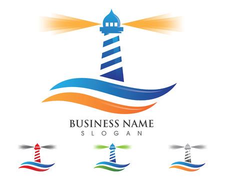 Lighthouse logo template vector icon