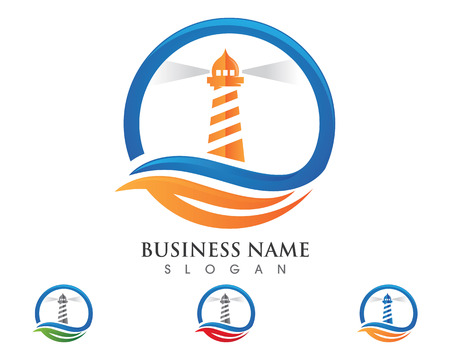 Lighthouse logo template vector icon