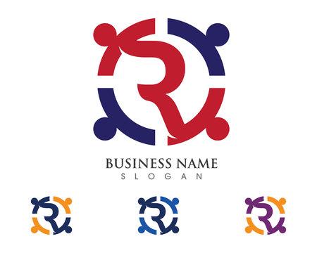 Les soins communautaires Logo Banque d'images - 72439444