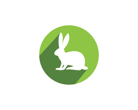 forefinger: Rabbit logo template