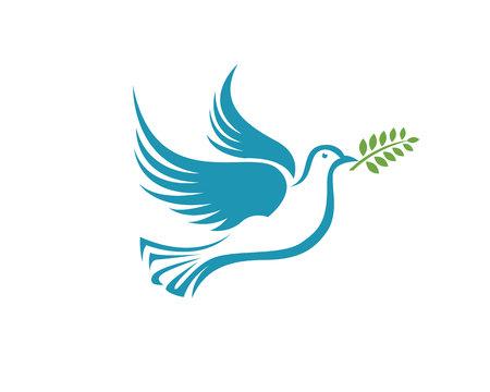 Vogel-Tauben-Logo-Vorlage