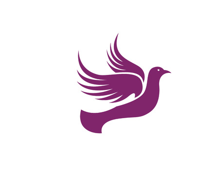 Lavender Dove Logo Template Illustration