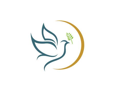 Blue Dove Logo Template Vettoriali