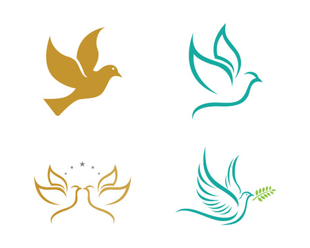 Seth of bird Dove Logo Template