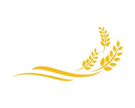 Rolnictwo pszenicy Logo szablon wektor ikona designu