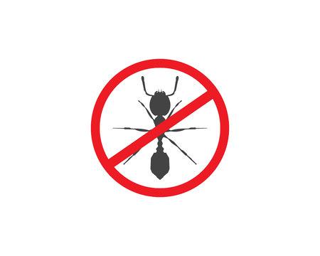 pest control: Ant Logo template vector illustration design Illustration