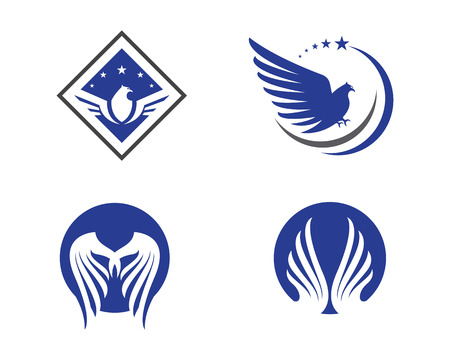 soar: Falcon Wing Template vector icon design Illustration