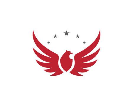 Falcon Wing Logo Template vector icon design