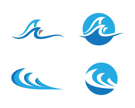 minerals: Water Wave symbol and icon Logo Template vector