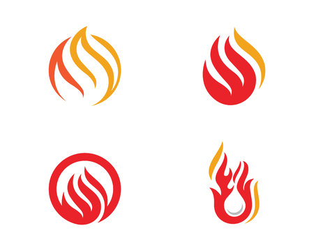 dangerous: Fire flame Logo Template