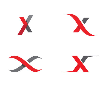 X Lettre Logo Template