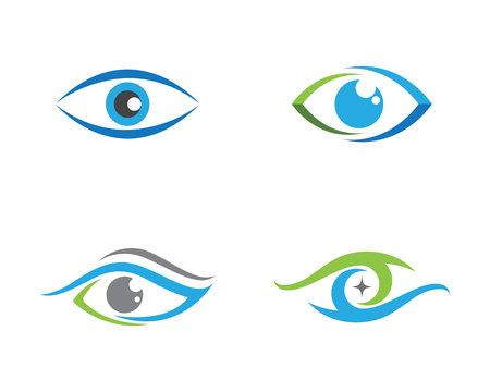 Augenpflege Logo-Vorlage Logo