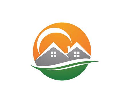 modern house: Property Logo Template Illustration