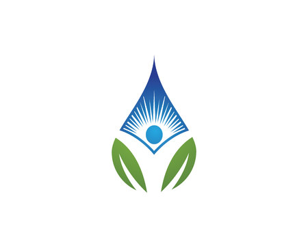 logo vector: Water drop Logo Template vector illustration design