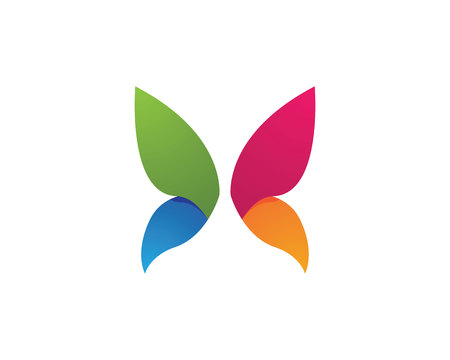 looped shape: Butterfly Logo Template